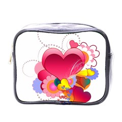 Heart Red Love Valentine S Day Mini Toiletries Bags