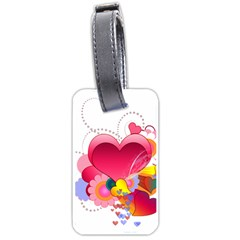 Heart Red Love Valentine S Day Luggage Tags (One Side)