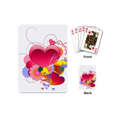 Heart Red Love Valentine S Day Playing Cards (Mini)