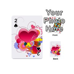 Heart Red Love Valentine S Day Playing Cards 54 (mini)