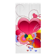 Heart Red Love Valentine S Day Shower Curtain 36  X 72  (stall)
