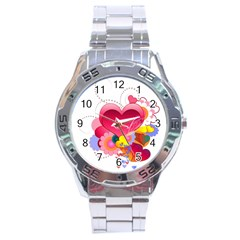 Heart Red Love Valentine S Day Stainless Steel Analogue Watch
