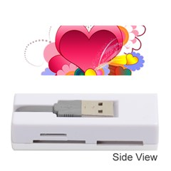 Heart Red Love Valentine S Day Memory Card Reader (stick)