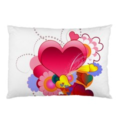 Heart Red Love Valentine S Day Pillow Case (two Sides)