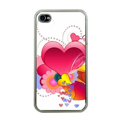 Heart Red Love Valentine S Day Apple iPhone 4 Case (Clear)