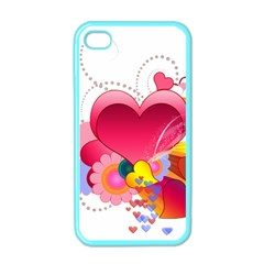 Heart Red Love Valentine S Day Apple Iphone 4 Case (color)