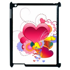 Heart Red Love Valentine S Day Apple Ipad 2 Case (black)