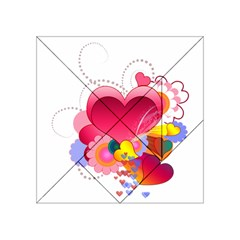Heart Red Love Valentine S Day Acrylic Tangram Puzzle (4  X 4 )