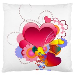 Heart Red Love Valentine S Day Large Cushion Case (One Side)