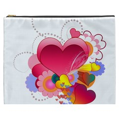 Heart Red Love Valentine S Day Cosmetic Bag (XXXL)