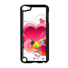 Heart Red Love Valentine S Day Apple iPod Touch 5 Case (Black)