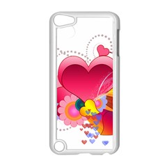 Heart Red Love Valentine S Day Apple iPod Touch 5 Case (White)
