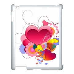 Heart Red Love Valentine S Day Apple Ipad 3/4 Case (white)