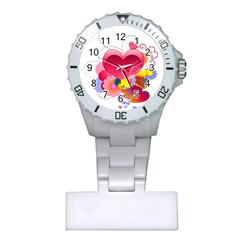 Heart Red Love Valentine S Day Plastic Nurses Watch
