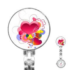 Heart Red Love Valentine S Day Stainless Steel Nurses Watch