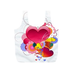 Heart Red Love Valentine S Day Full Print Recycle Bags (s)