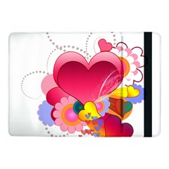 Heart Red Love Valentine S Day Samsung Galaxy Tab Pro 10 1  Flip Case