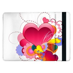 Heart Red Love Valentine S Day Samsung Galaxy Tab Pro 12.2  Flip Case