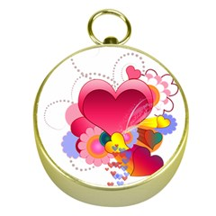 Heart Red Love Valentine S Day Gold Compasses