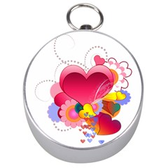 Heart Red Love Valentine S Day Silver Compasses