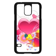 Heart Red Love Valentine S Day Samsung Galaxy S5 Case (black)
