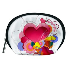 Heart Red Love Valentine S Day Accessory Pouches (medium)