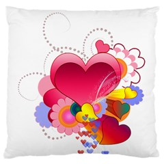 Heart Red Love Valentine S Day Standard Flano Cushion Case (one Side)