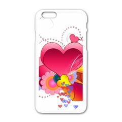 Heart Red Love Valentine S Day Apple Iphone 6/6s White Enamel Case