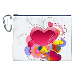 Heart Red Love Valentine S Day Canvas Cosmetic Bag (xxl)