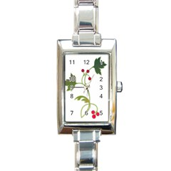Element Tag Green Nature Rectangle Italian Charm Watch