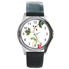 Element Tag Green Nature Round Metal Watch