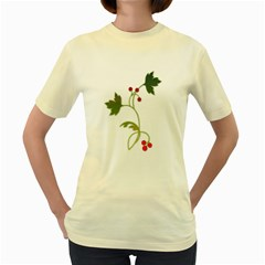 Element Tag Green Nature Women s Yellow T Shirt