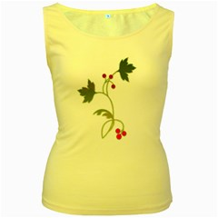 Element Tag Green Nature Women s Yellow Tank Top