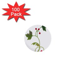 Element Tag Green Nature 1  Mini Buttons (100 Pack)