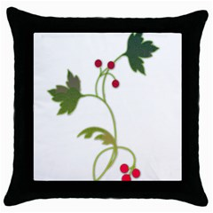 Element Tag Green Nature Throw Pillow Case (Black)