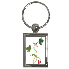 Element Tag Green Nature Key Chains (rectangle)