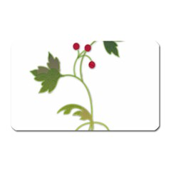 Element Tag Green Nature Magnet (Rectangular)