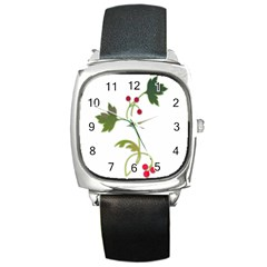 Element Tag Green Nature Square Metal Watch