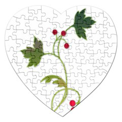 Element Tag Green Nature Jigsaw Puzzle (heart)