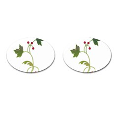 Element Tag Green Nature Cufflinks (Oval)