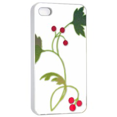 Element Tag Green Nature Apple iPhone 4/4s Seamless Case (White)