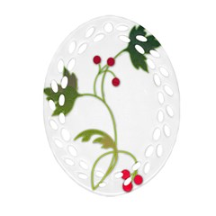 Element Tag Green Nature Ornament (oval Filigree)