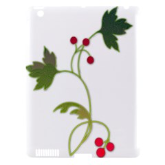 Element Tag Green Nature Apple iPad 3/4 Hardshell Case (Compatible with Smart Cover)