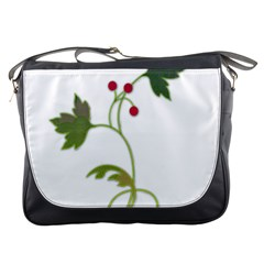 Element Tag Green Nature Messenger Bags