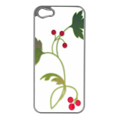 Element Tag Green Nature Apple iPhone 5 Case (Silver)