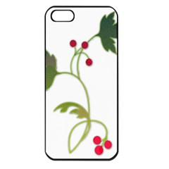 Element Tag Green Nature Apple iPhone 5 Seamless Case (Black)