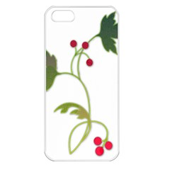 Element Tag Green Nature Apple iPhone 5 Seamless Case (White)