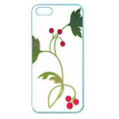 Element Tag Green Nature Apple Seamless Iphone 5 Case (color)