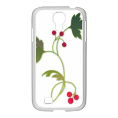 Element Tag Green Nature Samsung Galaxy S4 I9500/ I9505 Case (white)