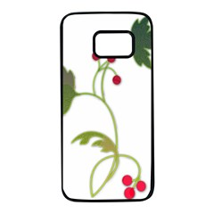 Element Tag Green Nature Samsung Galaxy S7 Black Seamless Case